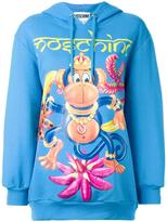 Moschino monkey print hoodie - women - Cotton - XS