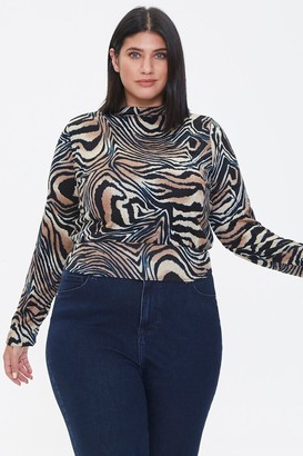 Forever 21 Plus Size Tiger Print Top
