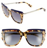Fendi Women's 53Mm Retro Sunglasses - Blue/ Havana/ Gold