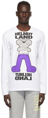 Helmut Lang White Helmut Land Mascot Long Sleeve T-Shirt