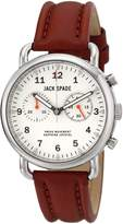 "Jack Spade Men's WURU0114 ""Norton"" Stainless Steel Watch with Brown Leather Band"