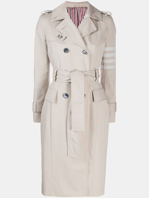 Thom Browne 4-Bar Unconstructed Classic Trench Coat