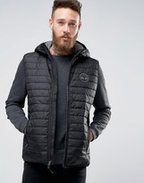 Timberland Lightweight Hooded Down Vest In Blue