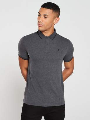 Very Tipped Polo Shirt - Charcoal