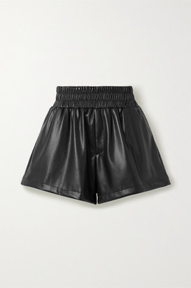 Les Rêveries Faux Leather Shorts - Black