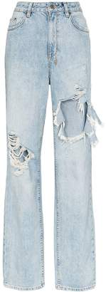 Ksubi Playback Distressed High-Waisted Jeans