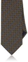 Brioni Men's Circle-Pattern Silk Twill Necktie
