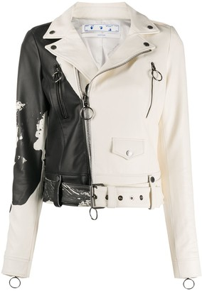 Off-White Painted Biker Jacket
