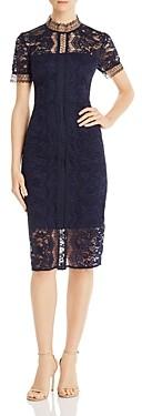 Eliza J Illusion Lace Dress
