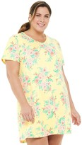 Croft & Barrow Plus Size V-Neck Sleepshirt