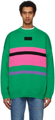 Ader Error Green and Pink Ventura Sweater
