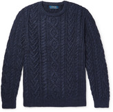 Polo Ralph Lauren Aran-Knit Cotton and Cashmere-Blend Sweater
