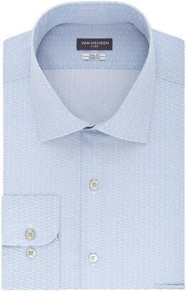 Van Heusen Men's FIT Dress Shirts Flex Collar Stretch Print (Big and Tall)