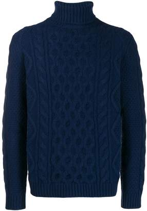 Alanui turtleneck cable-knit jumper