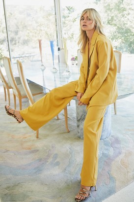 Nasty Gal Womens Suits You Wide-Leg Trousers - Yellow - 6