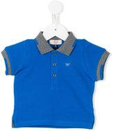 Armani Junior contrast trim polo shirt - kids - Cotton - 6 mth