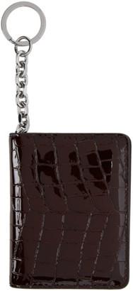 Maison Margiela Burgundy Croc Patent Card Holder