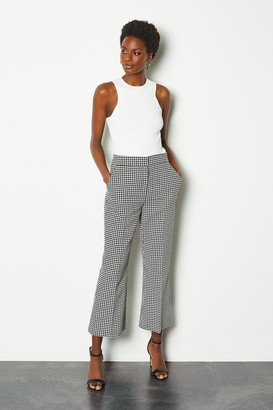 Karen Millen Check Tailored Kick Flare Trousers