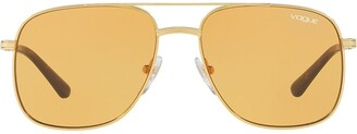 Vogue Eyewear Gigi Hadid capsule oversized aviator sunglasses