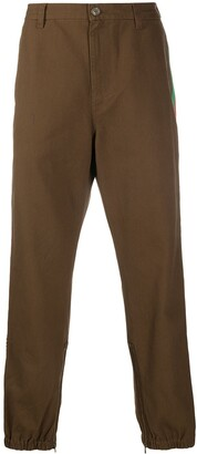Gucci glitter print side stripe trousers