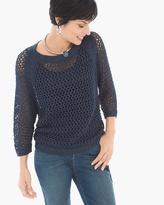 Chico's Jessica Open-Stitch Pullover