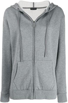 Emporio Armani zip fronted hoodie