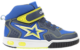 Geox Children's Gregg Rip-Tape Trainers, Navy/Lime