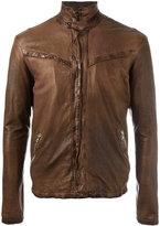Giorgio Brato zipped jacket - men - Cotton/Leather - 48
