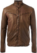 Giorgio Brato zipped jacket - men - Cotton/Leather - 50