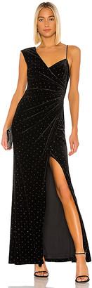 BCBGMAXAZRIA Velvet Rhinestone Gown