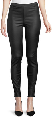 Private Label Ponte-Back Leather Leggings