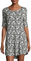Knot Sisters Lizzie Floral-Print Dress, Black Pattern
