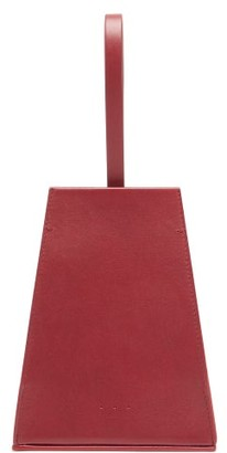 Aesther Ekme - Opera Leather Clutch - Womens - Burgundy