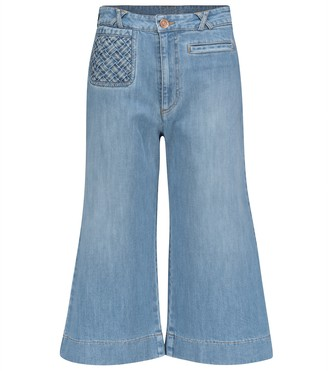 See by Chloe High-rise flared cropped jeans