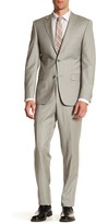 Simon Spurr Grey Woven Two Button Notch Lapel Regular Fit Suit