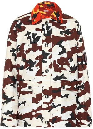 Miu Miu Embellished printed denim jacket