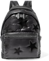 Stella McCartney Falabella Go Faux Leather-trimmed Appliquéd Shell Backpack - Black