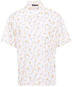 R 13 Floral-print Cotton-broadcloth Shirt