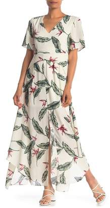 ONE ONE SIX V-Neck Floral Print Maxi Dress