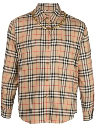 Burberry Long Sleeved Checked Shirt