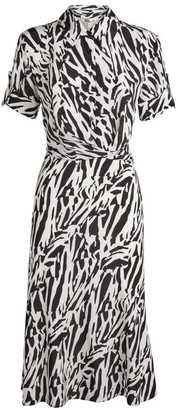 Diane von Furstenberg Deborah Zebra Midi Dress