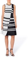 Catherine Malandrino Women's Loren Colorblock Stripe Dress