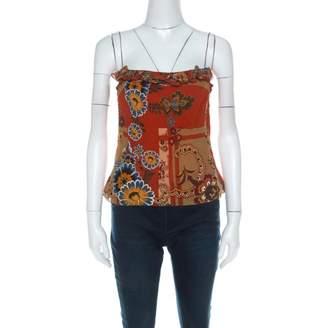 John Galliano Orange Silk Top for Women