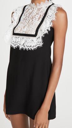 Self-Portrait Fine Lace Crepe Mini Dress