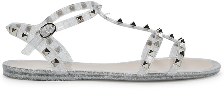 Valentino Rockstud glittered sandals