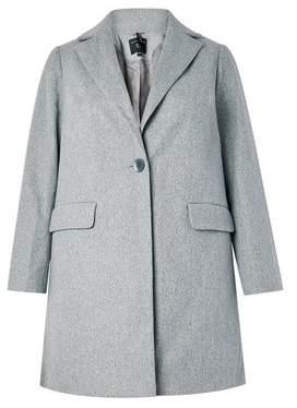 Dorothy Perkins Womens **Dp Curve Grey Minimal Lined Coat, Grey