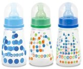 The First Years 3 Pack Gumdrop Slim Neck Bottle, Blue/Green, 4 Ounce (Discontinued by Manufacturer) by