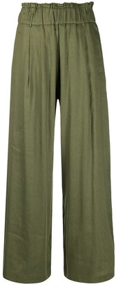 Semi-Couture High-Waisted Wide-Leg Trousers