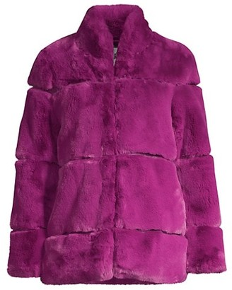 Apparis Sarah Tiered Faux Fur Short Coat
