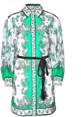 Alice + Olivia Oralia Button Down Mini Dress